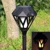 Solar Flame Flickering Garden LED Light IP65 Waterproof Outdoor Solar Torch Light Landscape Decoration USB Led