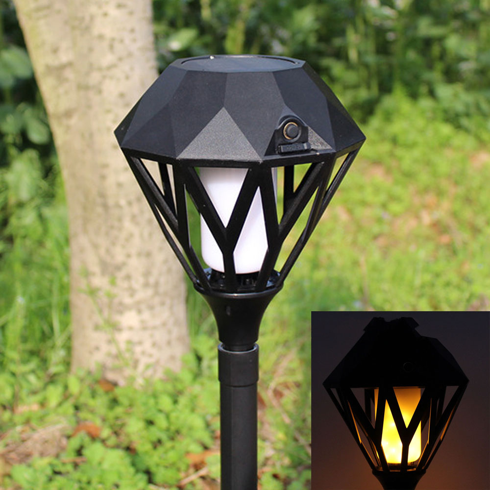 Solar Flame Flickering Garden LED Light IP65 Waterproof outdoor solar torch light Landscape Decoration USB Led Solar Flame Lamp