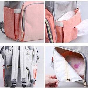 Image 4 - 기저귀 가방 어머니 배낭 대용량 여행 엄마 젖은 기저귀 가방 토트 출산 배낭 베이비 케어 유모차 가방 주최자