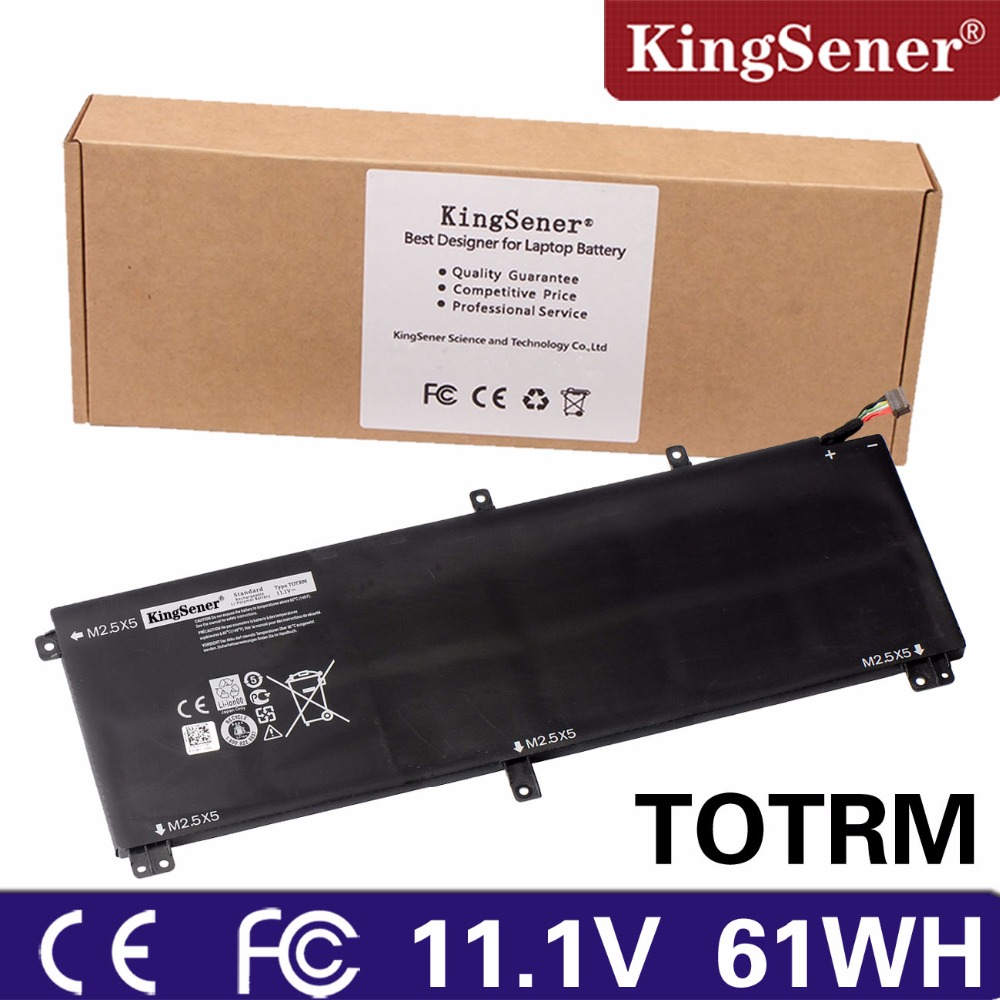 KingSener New T0TRM Laptop Battery for For Dell XPS 15 9530 Precision M3800 TOTRM 245RR H76MV 7D1WJ 61WH Free 2 Years Warranty 10 8v 8100mah kingsener new laptop battery for getac b300 b300x rugged notebook bp3s3p2900 4418144000490 free 2 years warranty