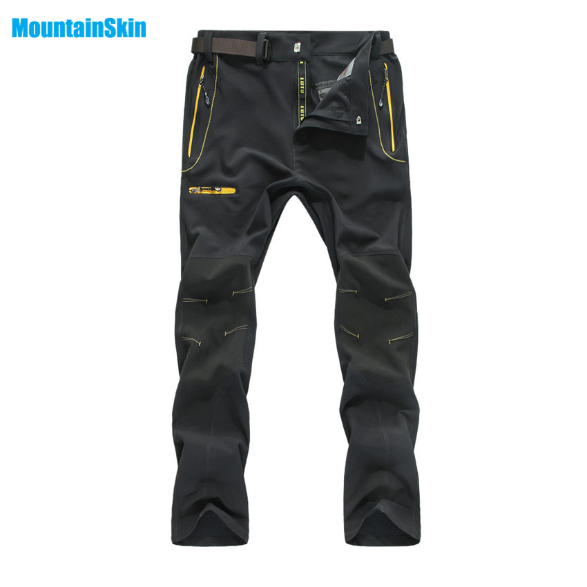 Mountainskin Men's Summer Quick Dry Softshell Pants Outdoor Sports Camping Hiking Trekking Fishing Climbing Male Trousers MA122