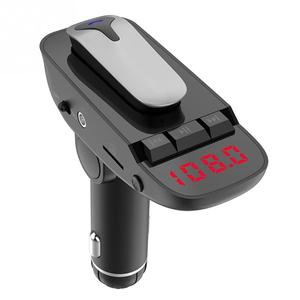 Image 2 - ER9 自動オン/オフ車ハンズフリー MP3 充電機能黒アダプタワイヤレス送信機の bluetooth 4.2 ヘッドセット #2