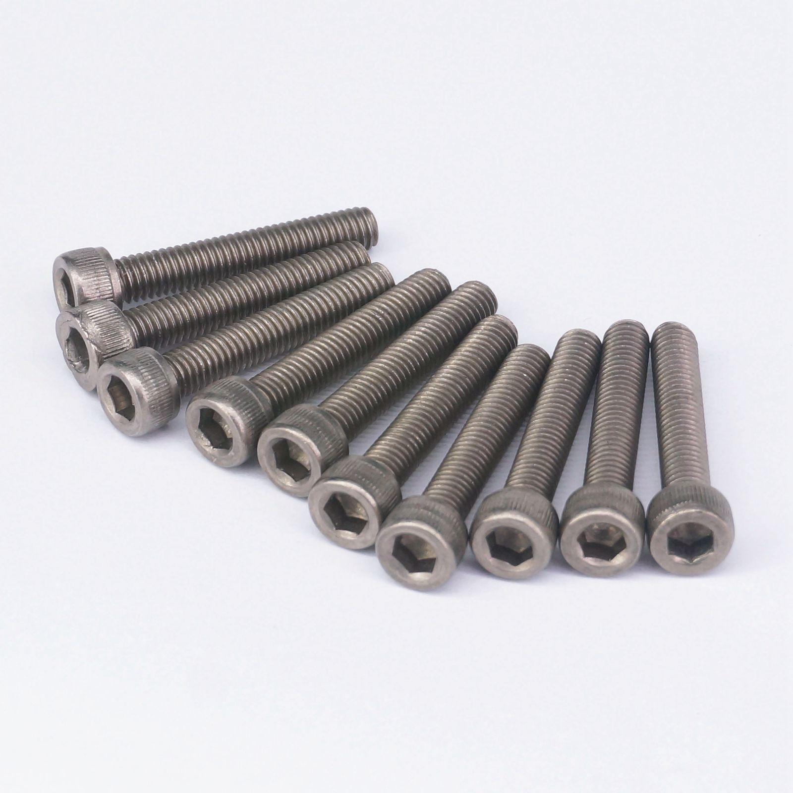 LOT 5 M10 x 35mm GR2 Titanium Hex Socket Head Cap Screw Bolt Anti Acid Corrosion