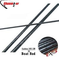 SUNMILE 2Set 3M 3Sections XH 24T Fast Action Carbon Fishing Rod Blank DIY Boat Rod Pole Repair Olta Carbon Fiber Rod Pesca