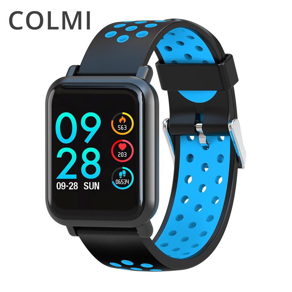 COLMI Smart Watch hombres vidrio templado Fitness Tracker presión arterial IP68 impermeable del perseguidor actividad mujeres Smartwatch