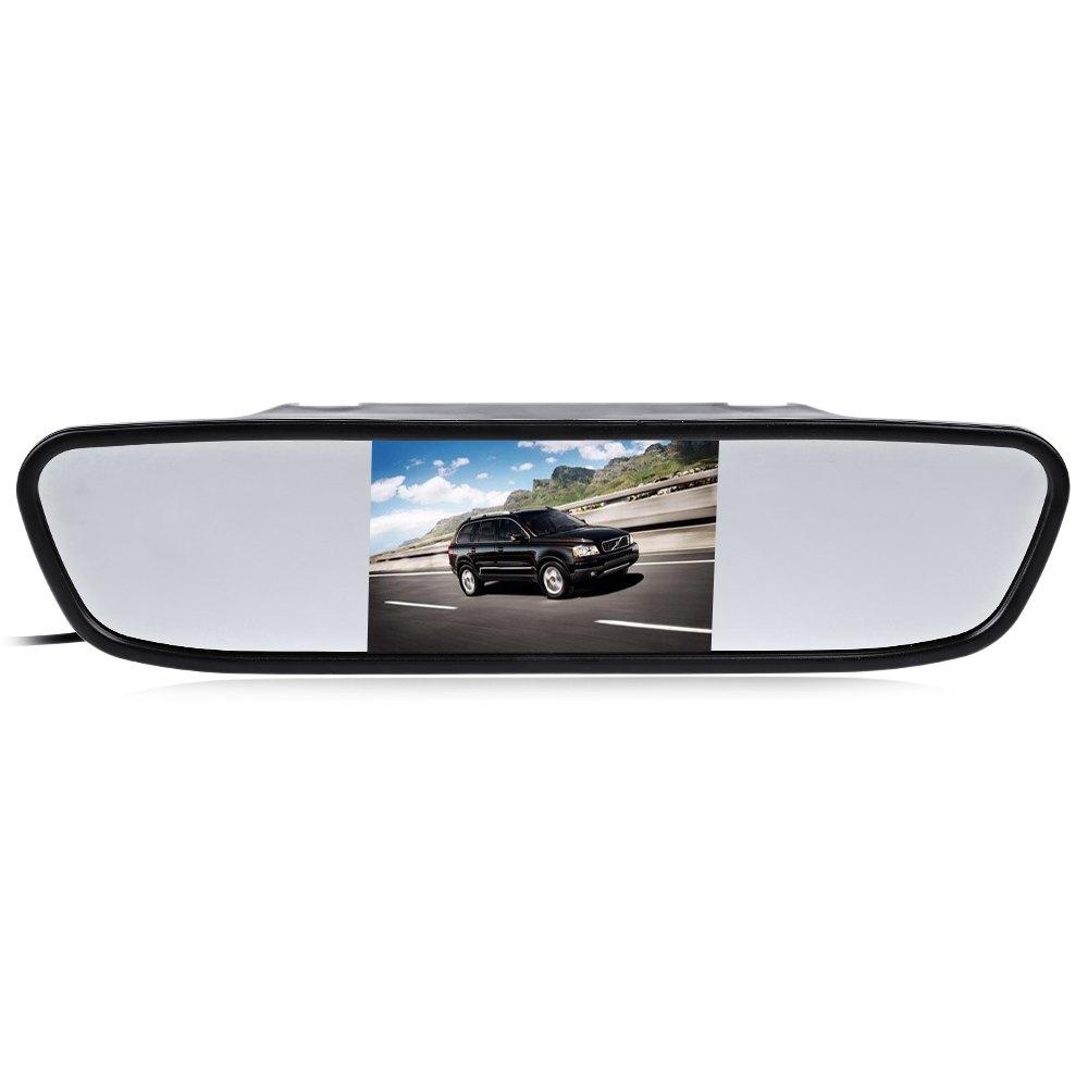 Prix pour 4.3 pouce De Voiture Rétroviseur HD LED Night Vision Vidéo Auto Parking Moniteur de Recul CCD Arrière de Voiture View monitor