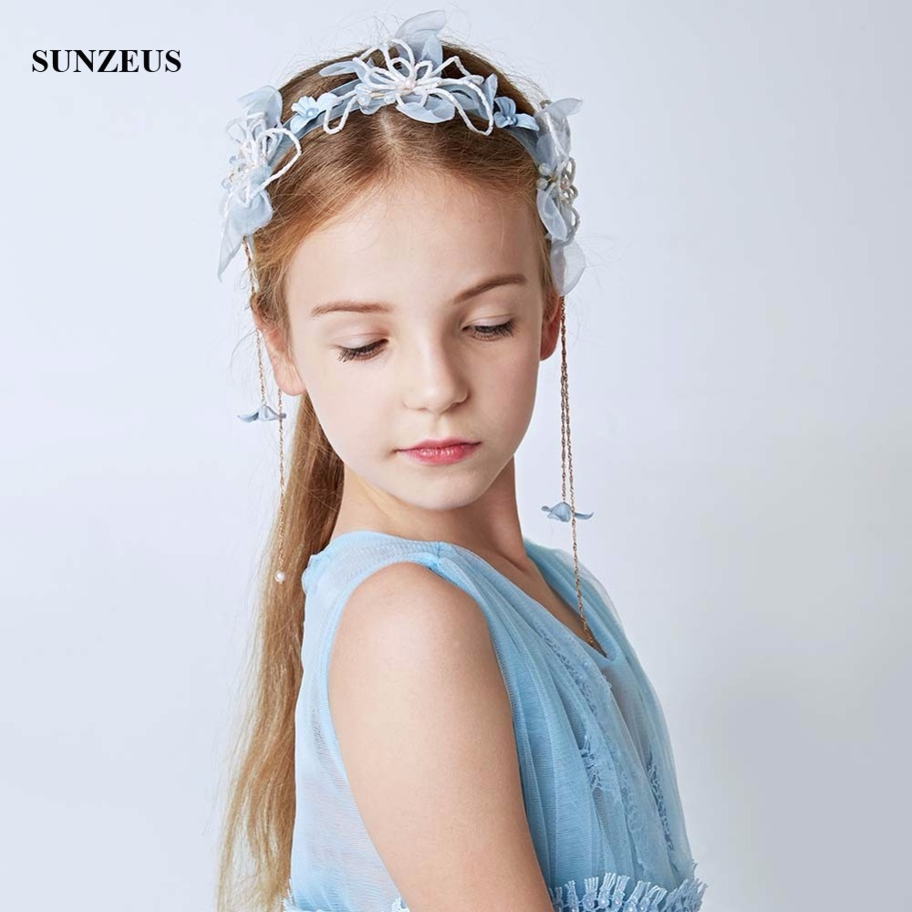 Beaded Handmade Flowers Girls Headband Party Hair Decoration Tassels Vintage Wedding Hair Accessories For Bridesmaid SG03