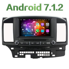 "8"" Android 7.1.2 Quad Core 2GB RAM 4G Wifi Audio Bluetooth Car DVD Player Radio Stereo Screen For Mitsubishi Lancer 2014 2015"