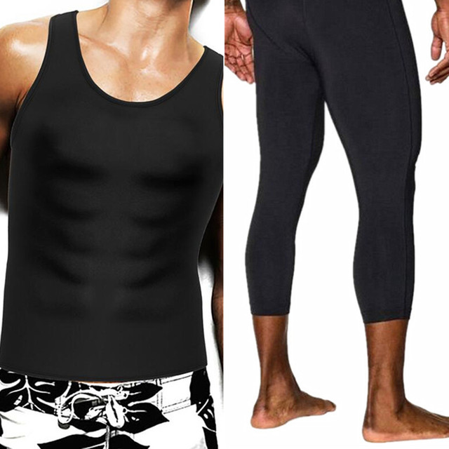 3ae46b08bdf1c Hot Sale Shapers Men s Compression Slimming Shirts Pants neoprene Absorbs  sweat Can be worn workout waist trainer body shapewear
