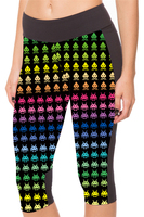 Plus Size New Women S 7 Point Pants Women S Leggings Small Colorful Robot Digital Print