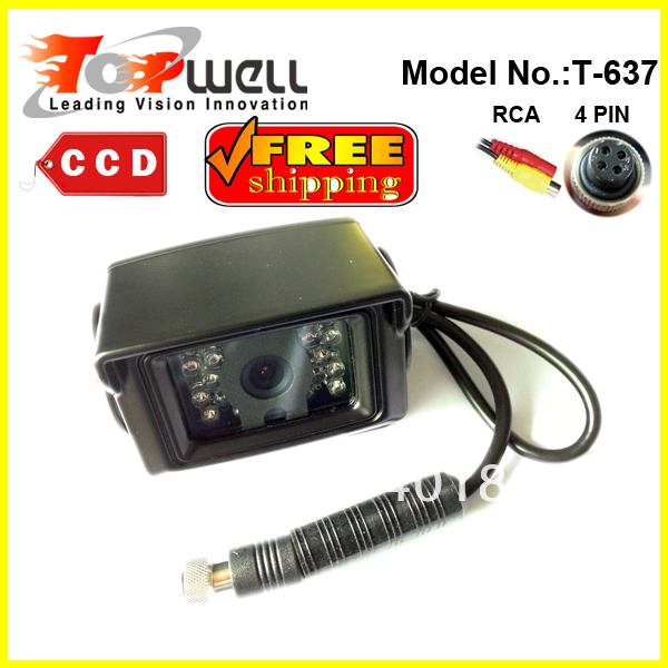 Free Shipping CE & RoHS Approved IP68 Waterproof 120 Degree 420 TVL CCD Color IR Night Vision Bus Rear View Camera