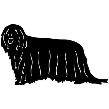 22.4*12.7CM Komondor Dog Car Stickers Endearing Vinyl Decal Car Styling Truck Decoration Black/Silver S1-0938 image