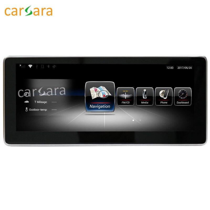 10.25 monitor de Android para GLA CIA Uma Classe W176 Benz CLA 45 200 250 2013 a 2015 tela sensível ao toque de Navegação GPS multimedia player