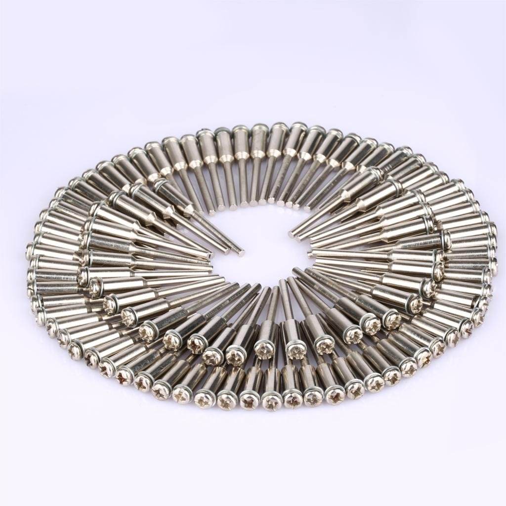 DRELD 50Pcs 2.35mm Shank Diamond Cutting Disc Mandrels Polishing Cutting Cut-off Wheel Holder For Rotary Tool Dremel Accessories