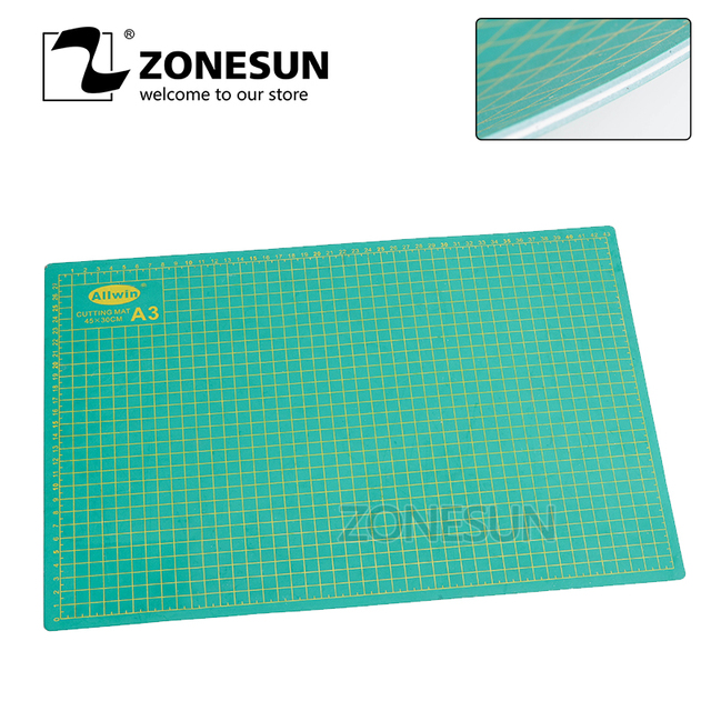 ZONESUN A3 Pvc Cutting Mat Double-sided Self Healing Cutting Board Fabric Leather Craft DIY Pad Quilting Accessories 45*30cm