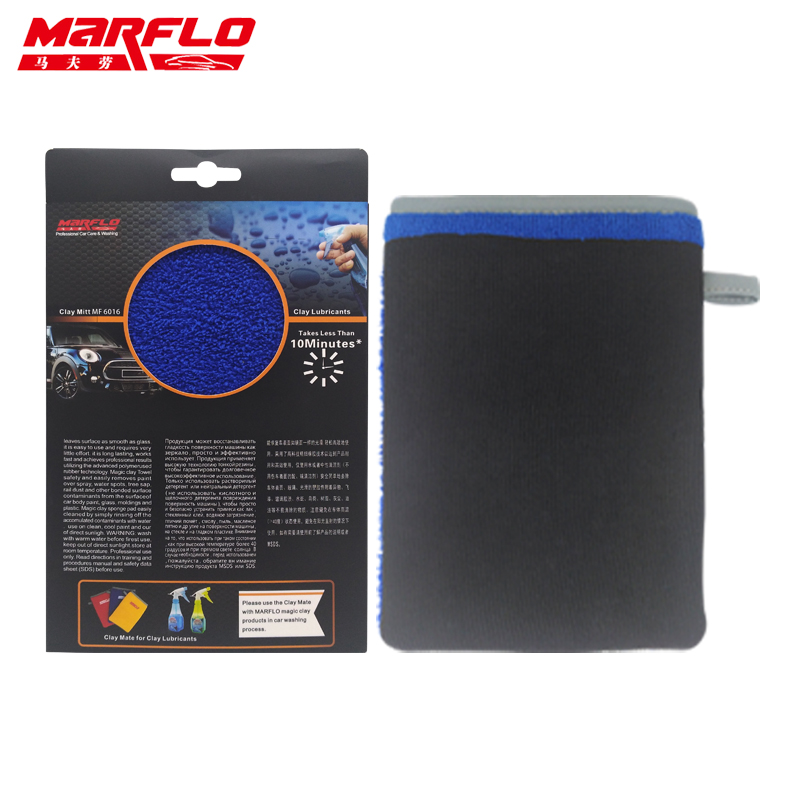 MARFLO New Magic Clay Pad Mitt for Car Washing move Contaminants before Polishing Wax Pad Glove Medium Grade