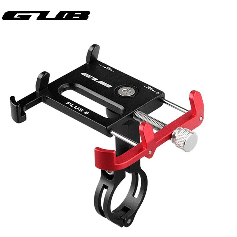 GUB aluminium fahrrad telefon halter Rotierenden stoßfest MTB motorrad GPS stehen halterung für 22,2/25,4/31,8mm lenker
