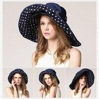 2017 mode-Design Blume Faltbare Krempe Sonnenhut Sommer Hüte für Frauen Uv-schutz Marke rabatt hut