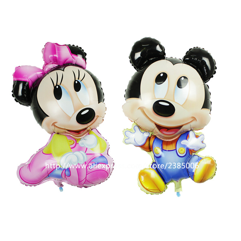 10pcs/lot Mickey Mouse foil Balloons Minnie Mouse party supplies ball Birthday Party Decoration Kids toys wedding balloon