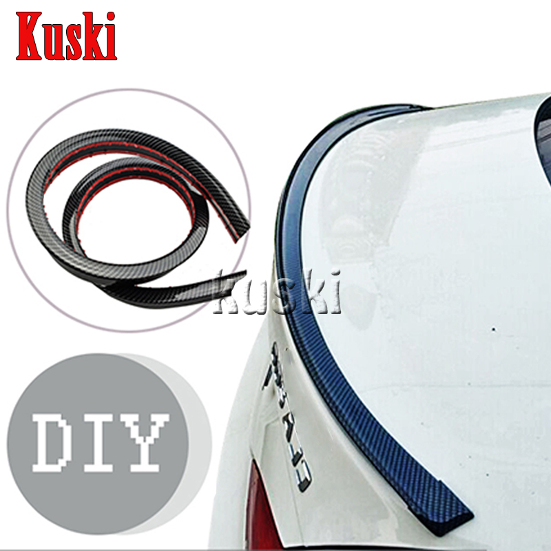 Car Carbon Fiber Rear <font><b>Spoiler</b></font> Wing for <font><b>Toyota</b></font> <font><b>Corolla</b></font> Avensis RAV4 Yaris Auris Hilux Prius verso For Saab 9-3 9-5 93 Accessories image