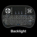 Backlight 2.4GHz Wireless Mini Keyboard Air Mouse Touchpad for Android TV BOX Laptop Raspberry Pi 3 Backlit with Battery