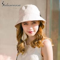 Sedancasesa New Fashion Solid Summer UV Women Sun Hat hot outdoor fishing sun hat Foldable cap chapeau bucket hat boonie hat