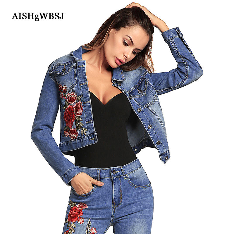 AISHGWBSJ 2018 Spring Women Jeans Jacket Fashion Long ...