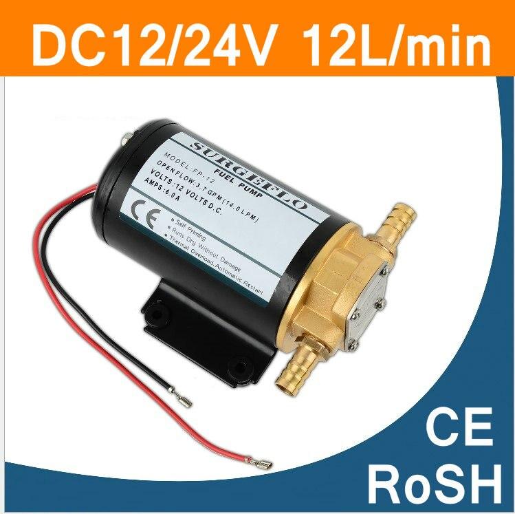 Pompe à huile à engrenages pour carburant Diesel transfert d'huile utilisation Marine DC12V 24 V moteur haute pression pompe Portable IP55 CE UL ROSH