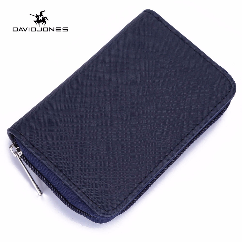 DAVIDJONES Short Wallet Women Brand Designer PU Women Purse Coin Pocket Card Holder Solid Color Women Wallets Bolsa Day Clutches