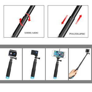 Image 4 - SCHIEßEN Universal Zubehör für GoPro Hero 9 8 7 5 Sjcam Xiaomi Yi 4K Eken H9 Stativ Halter Einbeinstativ strap Mount Gehen Pro Zubehör