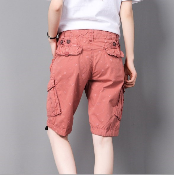 525301865a Summer Women's Tactical Army Straight Knee Length Short Military Trousers  Outdoor Female Capris Cargo Shorts With
