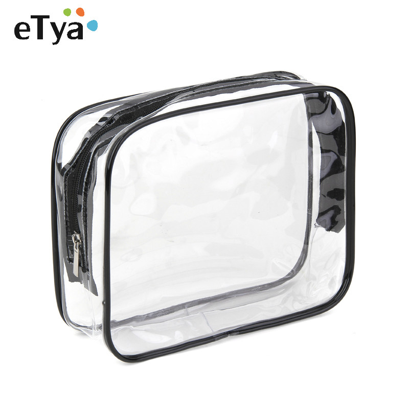 Environmental Protection PVC Transparent Cosmetic Bag Women Travel Make up Toiletry Bags Makeup Organizer Case Free Shipping