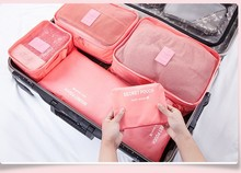 Nylon Packing Cube Travel Bag System Durable 6 Pieces One Set Large Capacity Sorting Organize Bag