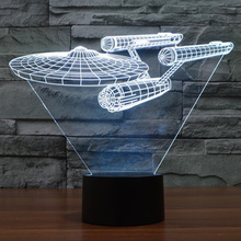 Star Trek Enterprise 7 Color LED Night Light