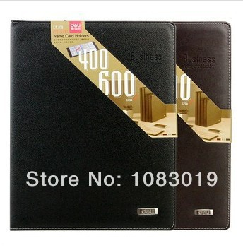 Freeshipping! new Black Leather 600 Cards Sheets Business Name Card Holder ID Credit Book Case Organizer Wallet Pouch Pocket 5pack 120 cards black leather business name id credit card holder book case organizer