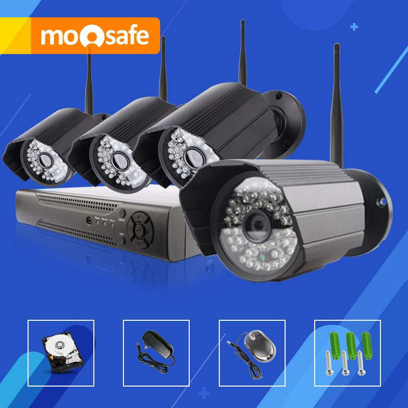 Mosafe 4CH HD IR Cut Night Vision WIFI Email Alarm 2TB HDD Outdoor Infrared LED ONVIF 1920*1080P Home Surveillance System mini electric stove oven cooker multifunctional small coffee heater mocha heating hot plates coffee milk machine 500w eu us plug