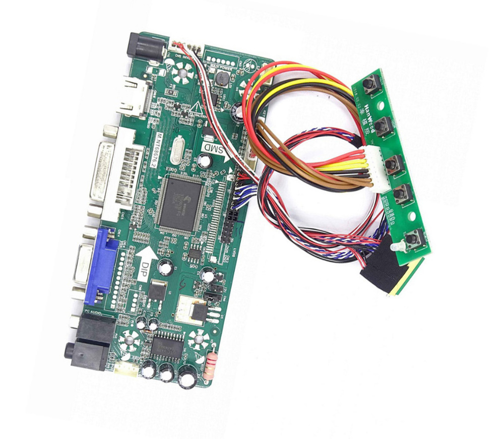 M.NT68676 HDMI DVI VGA LED LCD Controller Board Kit For LTN173KT01/LTN173KT02/LTN173KT03 1600X900 Panel 17.3