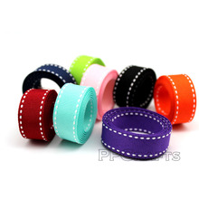 Solid Stitch Grosgrain Ribbon 3/8 9mm 5/816mm 7/822MM 1 Inch 25mm Wedding DIY  Red White Black