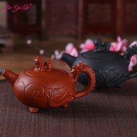 JIA-GUI Luo 120Ml Paarse Klei Yixing Theepot Traditionele Chinese Thee Set Oolong Thee Draagbare Reizen Thee Set H020
