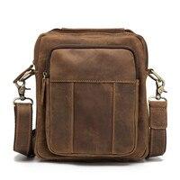 Messenger Bag Men'S Shoulder Bag Genuine Leather Men'S Bags Crazy Horse Male Man Vintage Crossbody Bags Leather Handbag 2022