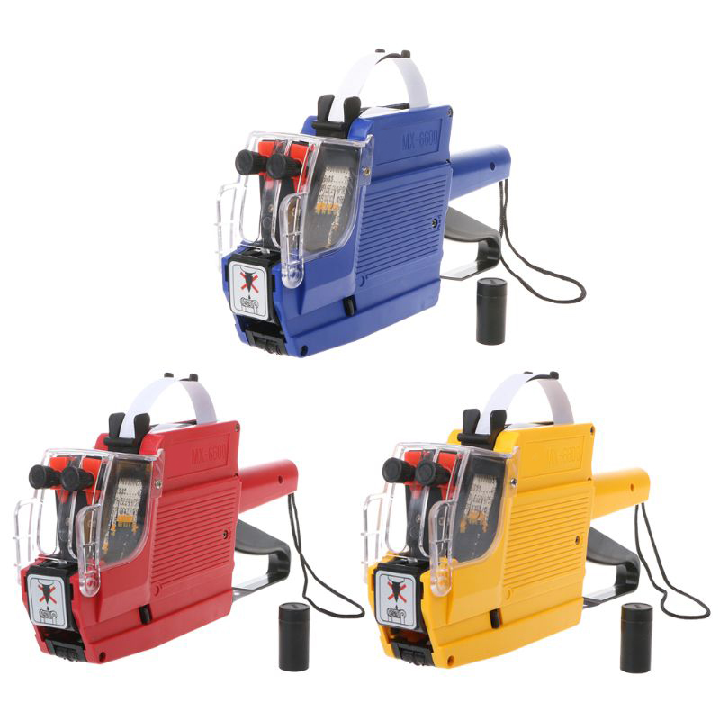 10-Digit Two-Line Label Price Tag Double-Row Price Machine,Double-Row Price Machine Price Tag Machine Double Row 10