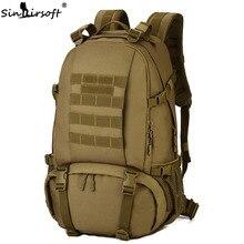 SINAIRSOFT Waterproof Nylon Military Tactics Backpack 40L Large Capacity Men 15 Inch Laptop Rucksack  Travel Hike LY2001