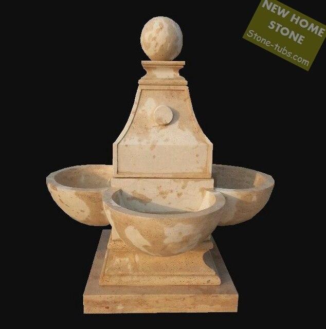 backyard water fountain beige limestone garden water fountain 2015 rome style simple shape nature limestone polished