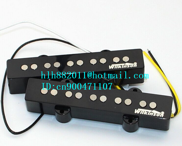 free shipping new 5 strings electric bass guitar open pickup in black  W-8369 belcat bass pickup 5 string humbucker double coil pickup guitar parts accessories black