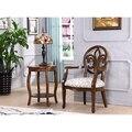 Резьба твердой древесины ткань обложка банкетный стул мебель для гостиной