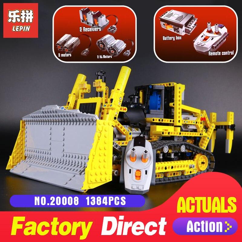 1384Pcs Lepin 20008 Technic series the bulldozer Model Building blocks Bricks kits Compatible 8275 for boy brithday gifts цена