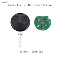 LARATH 3 Buttons 434MHZ Remote Key Fob For Mercedes Benz Smart Fortwo Forfour City Roadster Complete