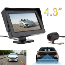 4.3 Inch HD 480 x 234 Resolution 2-Channel Video Input TFT-LCD Car Rear View Monitor + Waterproof Car Rear View Camera