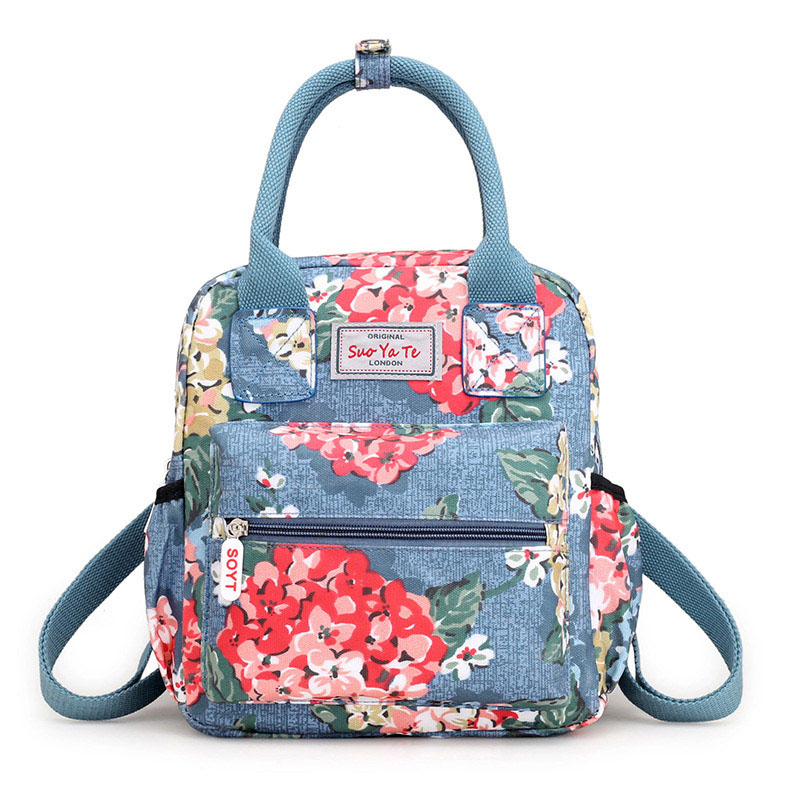 Fashion Casual Mummy Bag Large Capacity Waterproof Baby Diaper Bags Printing Flowers Multifunctional Maternity Backpack MBG0119