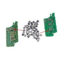 50 шт./лот микропереключатель кнопка Тактильные кнопочный Ключи кнопка включения для Peugeot 307 308 Citroen Триумф Sega удаленное